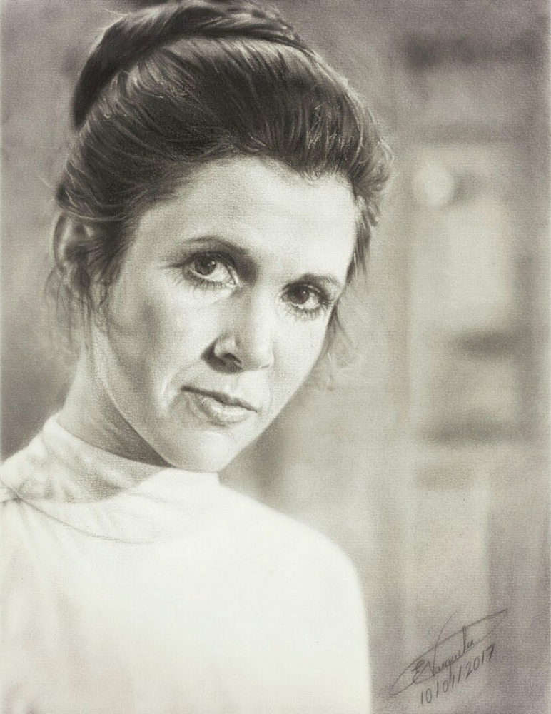 Carrie Fisher by 1DBeatle